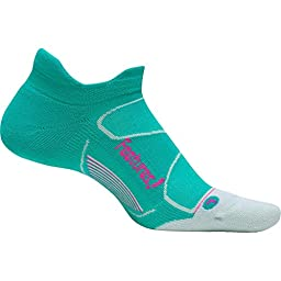 Feetures Elite Max Cushion No Show Tab Socks, Atlantis/Fuchsia (S)