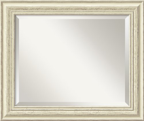 Country Whitewash Mirror - Medium Framed front-1087376