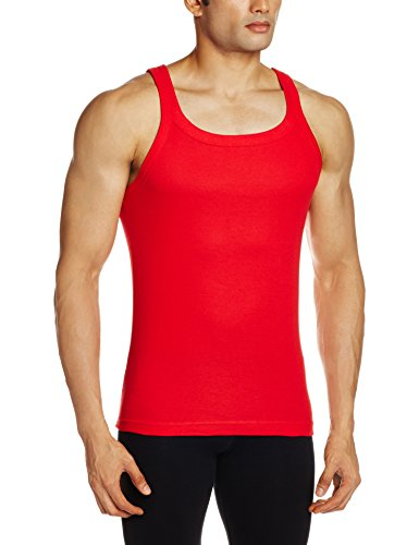 Jockey Men's Cotton Vest (8901326025567_US26-0105-RED Red M)