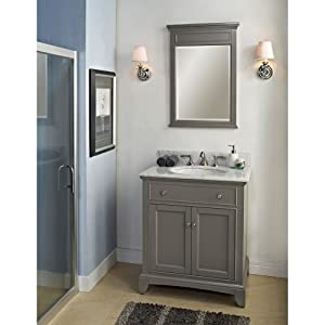 Fairmont designs 30 inch smithfield vanity medium gray for Bathroom ideas amazon