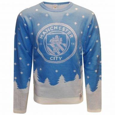 Manchester City Maglione Natalizio, unisex, XL