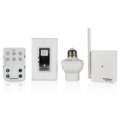 Images for Skylinkhome SK-3 Lighting Kit, Includes 10 Button Remote, Wall Dimmer, Plug-In Dimmer and Screw-In Dimmer, Off White
