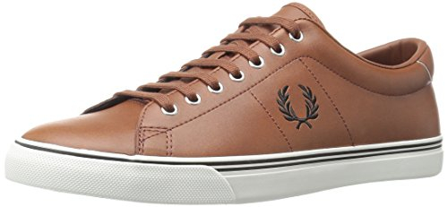 Fred Perry Underspin Leather Uomo Sneaker Marrone Chiaro