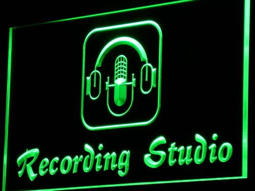 Adv Pro I801-G Recording Studio Microphone Bar Neon Light Sign
