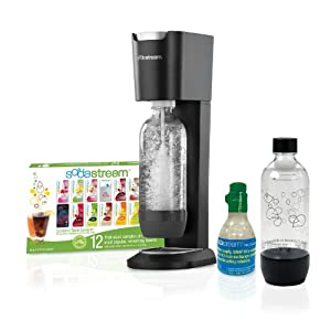 SodaStream Genesis Home Soda Maker Starter Kit, Black and Silver