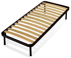 Rete 80x190 letto a doghe singola ortopedica con piedi for 300 piedi quadrati a casa