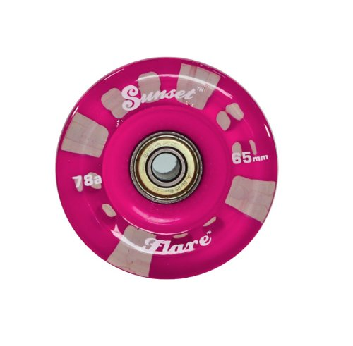 Pink Sunset Flare Led Longboard Skateboard Wheel Set (X4) 65Mm X 45Mm