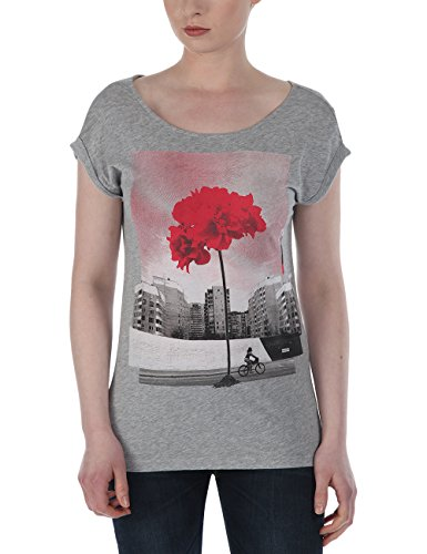 Bench - T-Shirt Flyor, Camicia di maternità Donna, Grigio (Greymarl), Medium (Taglia Produttore: Medium)