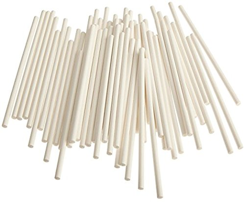 Cake Pop Sticks, 6 Paper Sticks for Cake Pops, Lollipops, Candy Apples, 100/Pack, Bake Shop Supply (Color: White, Tamaño: 6)