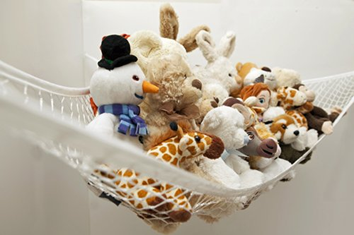 Best Buy! Toy Hammock - Deluxe Jumbo Toy Hammock Storage Organizer - If Your Looking To Eliminate Cl...