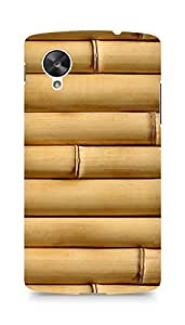 Amez designer printed 3d premium high quality back case cover for LG Nexus 5 (Bamboo vertical wood Texture)