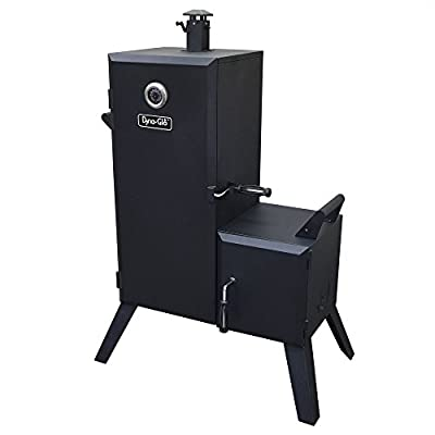 Dyna-Glo Dyna-Glo DGO1176BDC-D Black Steel Double Door Vertical Charcoal Offset BBQ Smoker