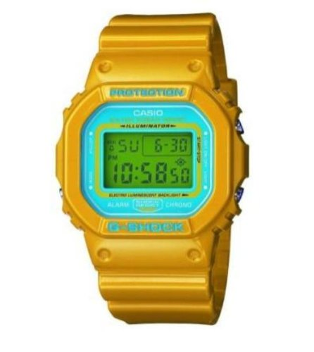 Casio+Men%27s+G-Shock+Tough+Culture+Yellow+Blue+Wrist+Watch+DW5600CS-9
