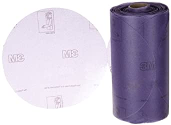"3M Stikit Film Disc Roll 360L, PSA Attachment, Aluminum Oxide, 6"" Diameter, P220 Grit (Pack of 1)"
