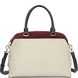 Vince Camuto Mindi Satchel Shoulder Bag, Parchment/Bordeaux/Graphite, One Size