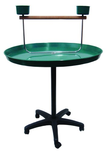 Image of YML 36-Inch Parrot Stand, Green (PS36)