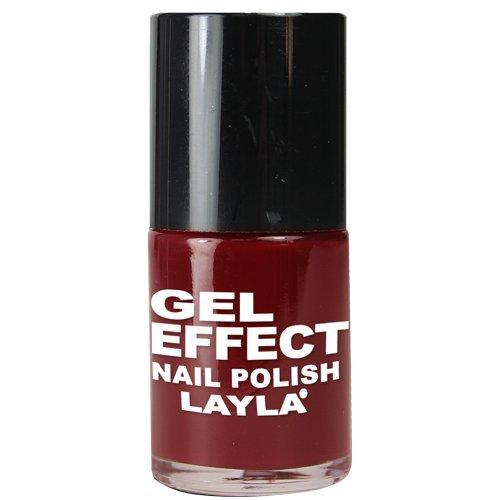 Layla Cosmetics Smalto Gel Effect Tonalità 07 (Red & Rich)