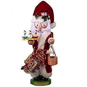 "Kurt Adler 17-Inch Limited Edition Steinbach Twelve Days of Christmas ""Calling Doves/French Hens/Turtle Doves"" Wind-Up Nutcracker from Steinbach Nutcrackers"