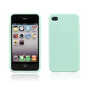 Christmas & New Year Gift Idea! Cute Candy Color Soft Rubber Iphone 4/4S Case, Gift Idea - MINT + Protective Film Free