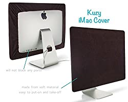 Kuzy - Chocolate Brown Screen Cover for iMac 27-inch Dust Cover Display Protector (Models: A1312 and A1419) - Chocolate 27