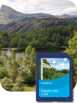 Satmap MapCard: Cumbria (Whole) OS 1:10k  &  1:25k