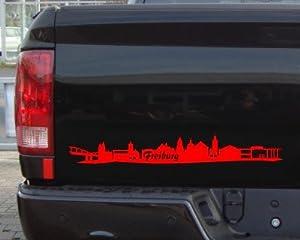 Aufkleber Freiburg Skyline Autoaufkleber