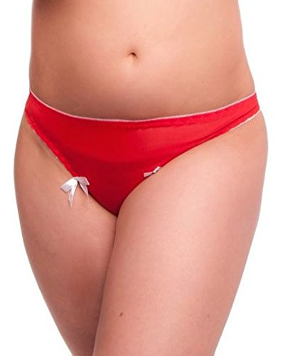 Undercover Under Cover Lingerie Womens Synthetic Panty ,Red ,Free Size