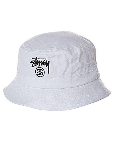STUSSY STOCK BUCKET HAT バケット ハット ステューシー白 M/S