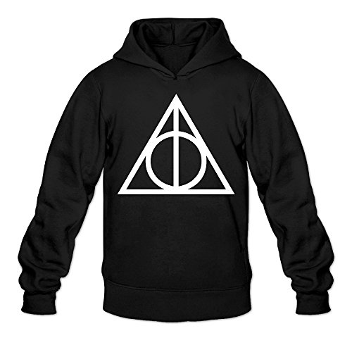 greenday-mens-hooded-harry-potter-and-the-deathly-hallows-size-xl-black
