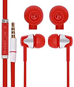 Jkobi With Volume 3.5mm In Ear bud Stereo Earphones Mini Size HeadSet Headphone Handsfree with Mic For Sony Xperia ZR M36h C5502 Red