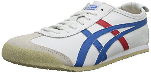 Onitsuka Tiger Mexico 66 Fashion Sneaker, White/Blue, 10 M Men's US/11.5 Women's M US