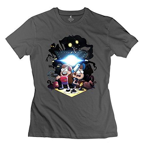 WXTEE Women's Gravity Falls Season 2 Tshirt Size S DeepHeather
