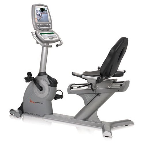 FreeMotion Commercial Recumbent Exercise Bike with Workout TV