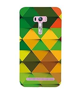 Colourful Pattern 3D Hard Polycarbonate Designer Back Case Cover for Asus Zenfone Selfie ZD551KL