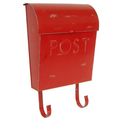 NACH Euro Rustic Mailbox, Royal Red (Vintage Mailbox Wall Mount compare prices)