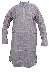 Indiatrendzs Men's Cotton Kurta (Mk-79A _Pink _44)