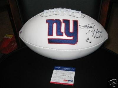 Frank Gifford Autographed Football - hof Psa dna - Autographed Footballs