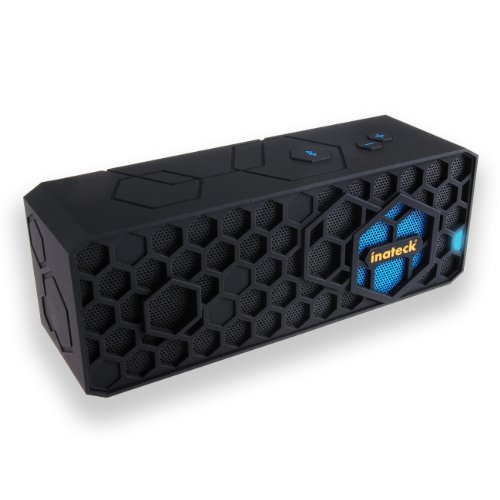 Inateck® Wireless Bluetooth Speaker Outdoor Portable Hifi Speaker Mini Stereo Speaker Rechargeable For Iphone 5S 4S/ Ipad / Android Smartphones / Samsung Galaxy S4 S3 / Laptops / Mobiles / Mp3 Player Devices, Up To 10 Hours Of Play Time