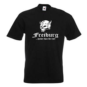 T-Shirt Freiburg ..harder than the rest, Städteshirt S - 12XL (SFU14-30a)