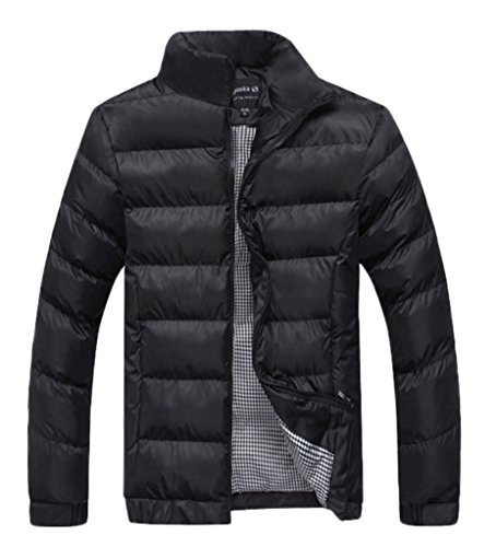 Z-SHOW Men's Stand Collar Quilted Cotton Jacket