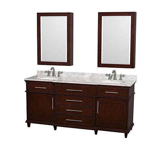 Wyndham-Collection-Berkeley-72-Double-Bathroom-Vanity-in-Dark-Chestnut-White-Carrera-Marble-Countertop-Undermount-Round-Sinks-24-Medicine-Cabinets