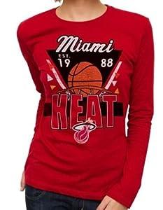 NBA Miami Heat Ladies Net Ball Long Sleeve Slim T-shirt by Junk Food (Small) by Junk Food