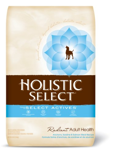 Holistic Select Radiant Adult Health Dry Dog Food, Anchovy, Sardine, and Salmon Meal Recipe, 30-Pound Bag