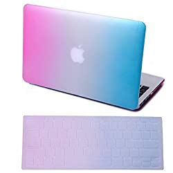 HDE HDE Rubberized Hard Shell Plastic Case + Matching Keyboard Skin for Macbook Air 11.6