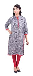 Krivi By Kk Women's Cotton Kurti (KRV-13-A_Gray_M)