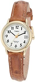 Timex Women's T2J761 Easy Reader Brown Leather Strap Watch
