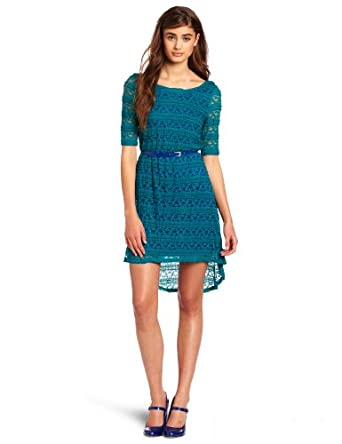 My Michelle Juniors Lace Dress, Jade, Medium