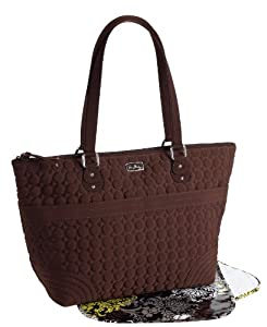 vera bradley microfiber collection baby bag in espresso brown diaper tote bags. Black Bedroom Furniture Sets. Home Design Ideas