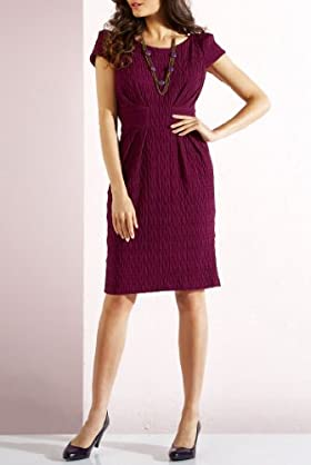 Per Una Ripple Textured Shift Jersey Dress [T62-9679G-S]