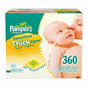 Pampers Pampers Sensitive ThickCare Wipes, 6X Refill 360 ct (Quantity of 3)